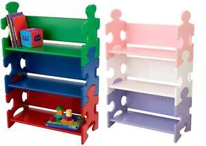 KidKraft Bookshelf Puzzle Children Book Toy Organizer Display 3 Shelves Pastel