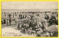 cpa 17 - ROYAN (Charente Maritime) la PLAGE à PONTAILLAC en 1904 Superbe Vue