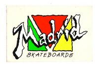 Vtg Madrid Skateboards Sticker Decal NEON 80's Skate NOS 3.75""
