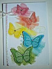 "C.R.GIBSON ~ GLITTERY ""OH HAPPY DAY"" BIRTHDAY GREETING CARD + ENVELOPE"