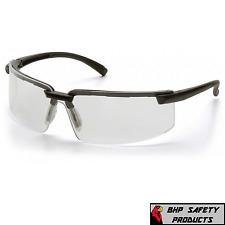 Pyramex Surveyor Sb6110s Safety Glasses Black Frame Clear Lens Work Eyewear Z87
