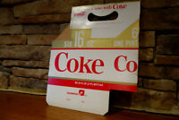 Vintage 1970's Coca Cola Cardboard Six Pack Carrier