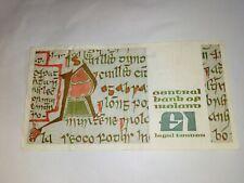 Irlandés Irlanda uno batea Nota £ 1 Nota libra