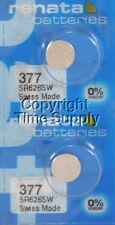 2 pc 377 Renata Watch Batteries SR626SW FREE SHIP 0% MERCURY