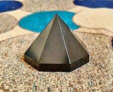 "Large 2"" Natural Black Tourmaline Chakra Healing Power Point Octagonal Pyramid"