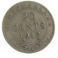 Newfoundland 1912 20 Cents (George V) Silver