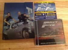 Fast Five Collector's Edition Combo Pack (Blu-ray,DVD,CD Soundtrack,2011)
