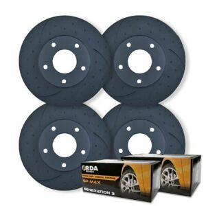FULL SET DIMPLED SLOTTED DISC BRAKE ROTORS+PADS for Mazda 6 GH 8/2007-11/2012