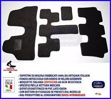 Tappetini Moquette Auto per Lancia Phedra 7 Posti 2002> Tappeti  velcro  NO LOGO