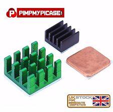 Raspberry Pi 3/2 3 pezzi Alluminio e Rame Dissipatore Di Calore Kit di raffreddamento Adesivo