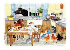 tuftop Too Many cuisiniers Animal Protection Plan de travail 40x30cm verre