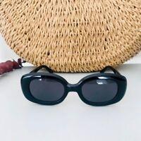 Classic Oversized 1950s Design Black Rectangular Shape Sunglasses
