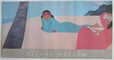"Signed Pegge Hopper Poster Hawaiian Women ""Diptych"" Bishop Museum 1987"