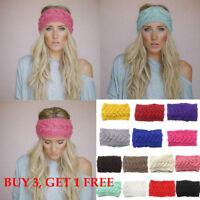 Ladies Womens Winter Knitted Headband Headwrap Ear Warmer Headband Muffs Band/OO