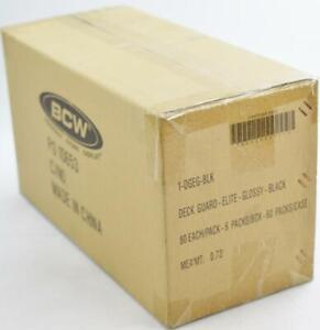 CLOSEOUT - BCW ELITE GLOSSY BLACK DECK PROTECTORS 10-BOX CASE !!!