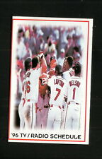 Cleveland Indians--1996 Pocket Schedule--Ohio Lottery