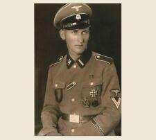 German SS Officer in Uniform PHOTO World War II Military Soldier