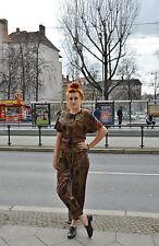 Sommer Hose Stoffhose Sweathose high waist 90er TRUE VINTAGE 90s metalic pattern