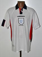 ENGLAND NATIONAL TEAM 1997/1998/1999 HOME FOOTBALL SHIRT UMBRO SIZE XL ADULT