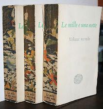 Le mille e una notte voll. 2,3,4, prima edizione Einaudi 1949