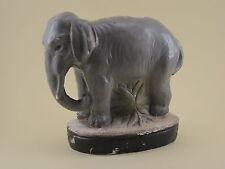 Ancienne TIRELIRE A CASSER ELEPHANT Plâtre Polychrome signé MARTINI - piggy bank