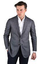 New $3.5K Stile Latino Attolini handmade blazer US 38 EU 48 wool birds eye blue