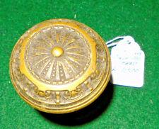 F.C. LINDE BRASS DOOR KNOB CIRCA 1900:  BLUMIN L-11500  (12552)