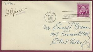 First Day of Issue Postal Cover, Emporia, KS, William Allen White Stamp, 1948