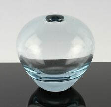 vintage Holmegaard Per Lutken Rondo glass ball vase in aqua blue, dated 1959