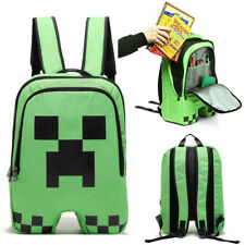 Minecraft School Backpack Creeper Rucksack Waterproof Boy Sports Storage Bag UK