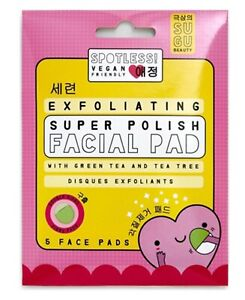 Exfoliating Super Polish 5 x Facial Peeling Pads VEGAN Friendly Blackheads Pores