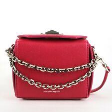 $1790 Alexander McQueen Hot Pink Leather Box 16 Chain Crossbody Bag 479767