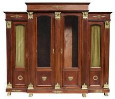 Grande bibliothèque style Empire fin XIXème
