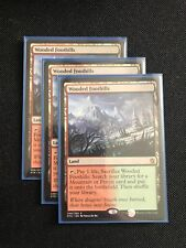 Wooded Foothills - Khans of Tarkir - 3X NM MTG FetchLand Green Red Mint
