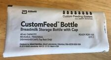 Sealed Abbott Custom Feed Breast Milk Storage Bottles Reusable w/ Cap 60 mL - 20