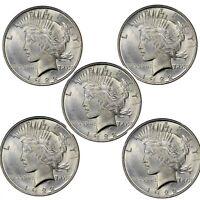 1924 Peace Dollar BU - Lot of 5