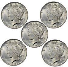Peace Dollar BU (Random Years) Lot of 5