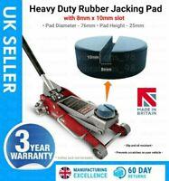 1 slot Trolley Jack Adapter Lifting Rubber Pad Rubber Block jacking Pad jack pad