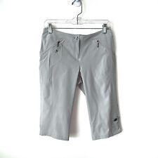 Jamie Sadock Golf Shorts Womens Size 2 Dove Gray Zipper Pockets Athleisure