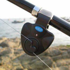 Electronic LED Light Fishing Bite Sound Alarm Alert Bell Clip On Fishing Rod Set