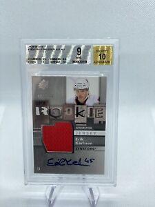 2009-10 SPX Erik Karlsson Rookie Jersey Auto BGS 9 #165, 460/799, RC, POP 9