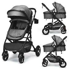 2 In 1 Baby Stroller High Landscape Convertible Reversible Bassinet Pram Multi