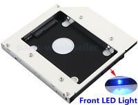 SATA a 2nd SSD HD DISCO RIGIDO 12.7mm Universale Caddy CD/DVD-ROM Ottico Bay
