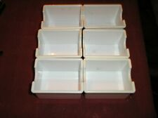 Tablecraft Set of 6 Sugar Packet Trays White