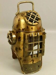 Nautical Collectible Maritime Antique Finish Vintage scuba Sea Diving Helmet