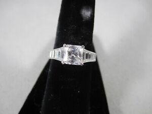 QVC Diamonique New Sterling PRINCESS CUT & BAGUETTES Ring Sizes 4, 5, 6, 7