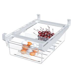Fridge Drawer Organizer Pull Out, Freezer Bins Container Shelf Storage Box R1BO
