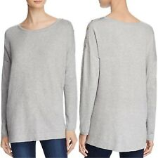 Sutton Studio Heather Gray Boatneck Sweater Button Details NWT $88 Size X-Large