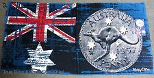 Australian Souvenir Beach Towel Australian Flag & Penny 100% Cotton