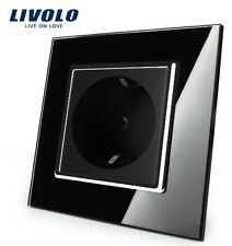 1 Fach Steckdose Schwarz Kristall Glas LIVOLO VL-C7C1EU-12 edel Luxus Top Design
